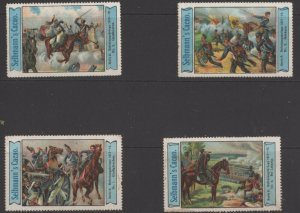Germany - Lot of 4 of 6 Vignette Stamps - German War of Independence - Blue Trim