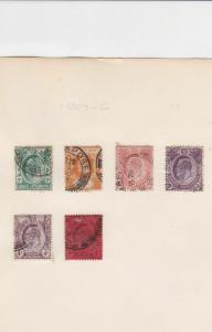 straits settlements 1903 - 1906  stamps ref r8219