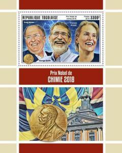 Z08 IMPERF TG190149b TOGO 2019 Nobel Prize in Chemistry MNH ** Postfrisch