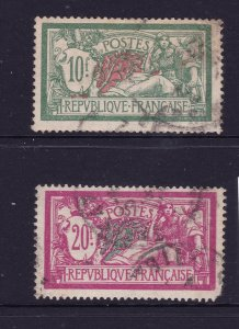 France the 10fr & 20fr  Mersons used