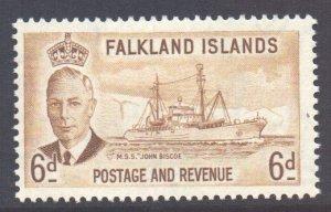Falkland Is Scott 113 - SG178, 1952 George VI 6d MH*