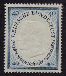 Germany   #727   MNH  1955  von Schiller