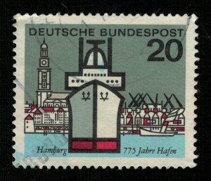 Hamburg, Deutsche, 20 Pf., Ship (T-6342)