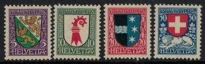 Switzerland #B37-40* NH  CV $4.50