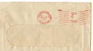 G.B.: 1961 cover sent from Stockton with machine 2d paid