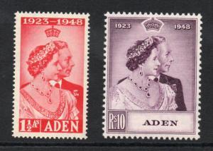 ADEN 1948 Silver Wedding superb MNH condition.