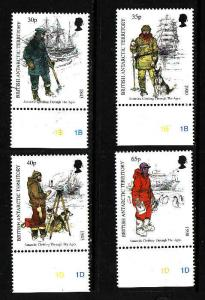 British Antarctic Territory-Sc #259-62-set-Antarctic Clothing-unused-NH