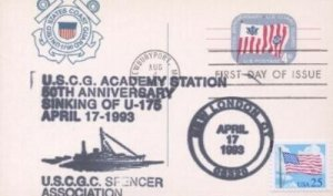 UX52 4c COAST GUARD - FDC & Event Dual #2