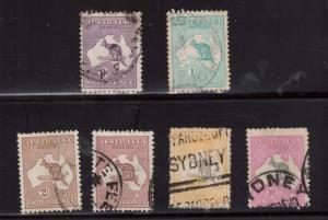 Australia #50 - #55 Used