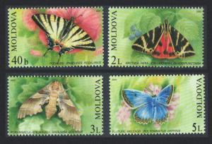 Moldova Butterflies and Moths 4v issue 2003 SG#455-458 SC#440-443