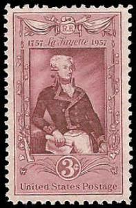PCBstamps   US #1097 3c Lafayette Bicentenary, MNH, (PCB-12)