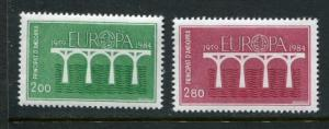 French Andorra #323-4 MNH 1984 Europa