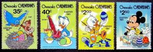 GRENADA GR - 1981 - DISNEY - EASTER EGGS - MICKEY - MINT - MNH SET OF 4!