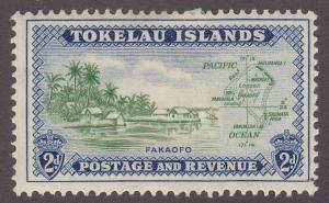 Tokelau Islands 3 Map of the Island 1948