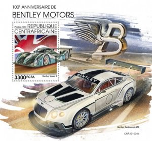 C A R - 2019 - Bentley Motors, 100th Anniv - Perf Souv Sheet  - M N H