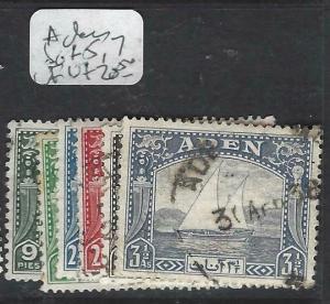 ADEN     (P2903BB) DHOW  SG 1-5, 7   VFU