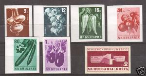 Bulgaria Mi 1079B/1103B MNH. 1958-1959 imperfs, 2 sets