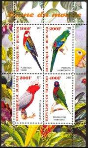 Burundi 2011 Birds (10) Parrots MNH Cinderella !