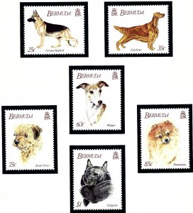 Bermuda 638-43 MNH 1992 Dogs    (ap1883)