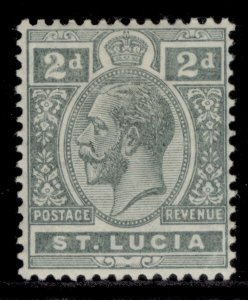 ST. LUCIA GV SG80, 2d grey, M MINT.