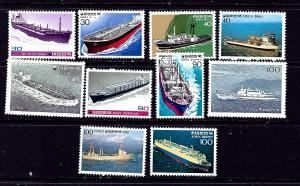 South Korea 1235-44 MNH 1981 Ships