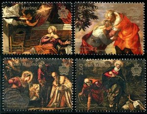 HERRICKSTAMP NEW ISSUES SAN MARINO Tintoretto Paintings