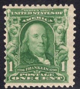 US Stamp Scott #300 Mint Previously Hinged SCV $12