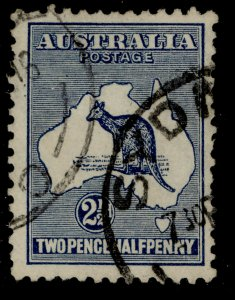 AUSTRALIA GV SG4, 2½d Indigo, FINE USED. Cat £23.