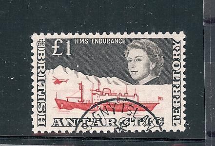 British Antarctic Terr. 24, Ship Single, **Used**