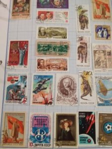U.S.S.R Soviet Union noyta CCCP Stamp lot many years 1960s, 70s,80s,90s