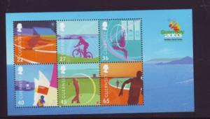 Guernsey Sc 800a 2003 Island Games stamp sheet mint NH