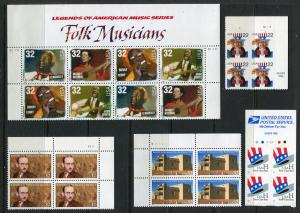 US Postage Stamps (YEAR 1998) Blocks/4 FACE=$7.28