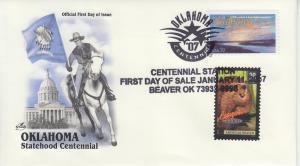 2007 Oklahoma Centennial Beaver OK FDOI Artcraft 20