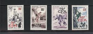 French (Reunion), 324-35, Surcharged Singles,**MNH**
