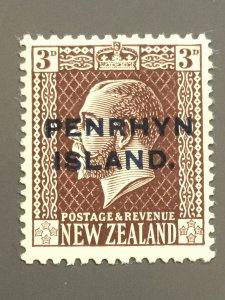 Penrhyn Is. 20 F-VF MH. Scott $ 4.25