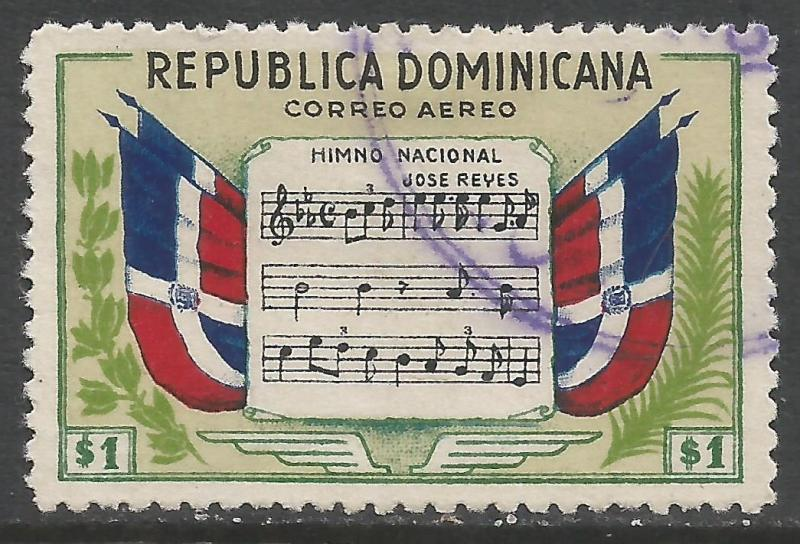 DOMINICAN REPUBLIC C61 VFU FLAGS Z6734
