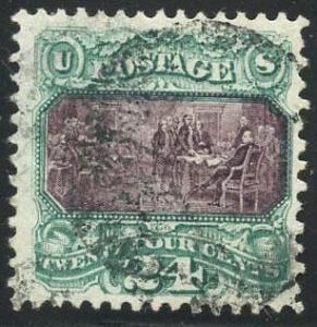 US Scott #120 Used, FVF, PFC