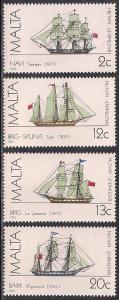Malta 637-640 MNH - Ships