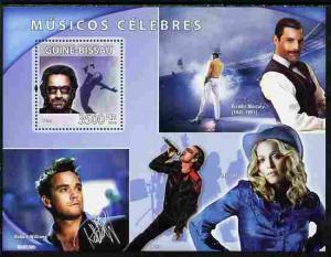 Guinea-Bissau MNH S/S Music Madonna & Freddie Mercury Singers