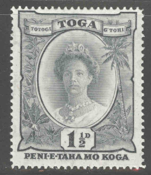 TONGA  Scott 54 MH* Queen Salote with turtle watermark