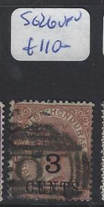 BRITISH HONDURAS (P0104B) QV 3C/4D SG 26  O CANCEL  VFU