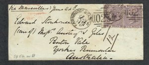 $Great Britain Sc#39(x2) stamps 1864 cover Farnboro Station