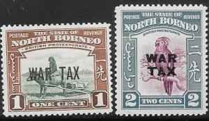 Northern Borneo MR1-MR2 Unused/Hinged - Animals
