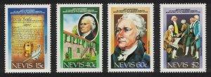 Nevis US Constitution 4v 1987 MNH SG#466-469