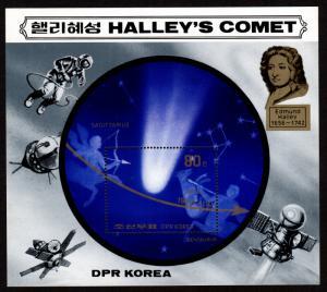 North Korea - Mint Souvenir Sheet Scott #2507 (Halley's Comet)