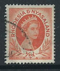 Rhodesia & Nyasaland SG 1  VFU
