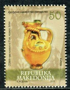 186 - MACEDONIA 2015 - Cultural Hertige - Pottery - MNH Set