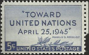 # 928 MINT NEVER HINGED UNITED NATION CONFERENCE