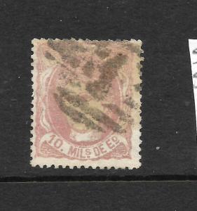 SPAIN  1870  10m PALE ROSE  FU  SG 175
