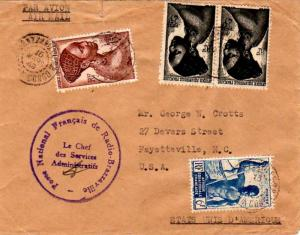 French Equatorial Africa 6F Niger Boatman and 15F and 25F (2) Young Bacongo W...
